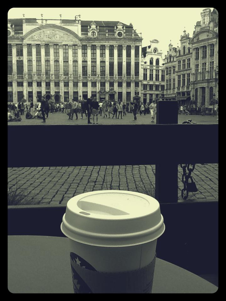 Brussels, Belgium, Starbucks, Grande place, coffee, Travel, Wanderlust