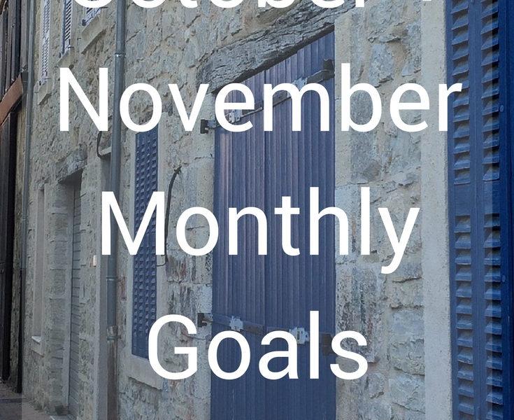 October + November Monthly Goals 2017